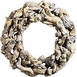 Treibholzkranz NATURE - Handmade - Naturkranz - Wurzelkranz - Türkranz (23 x 6 cm)