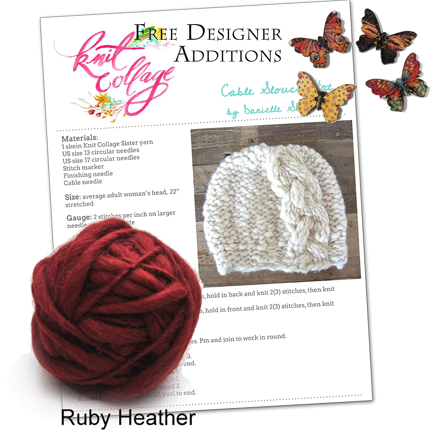 Amazon.com: Cable Knit Hat Pattern, Winter Knit Hat Kit, Braided ...