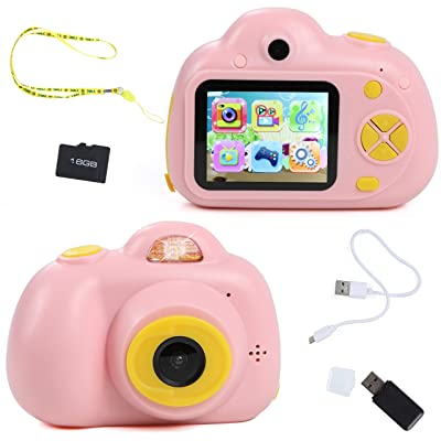 IQ Toy Digital Camera Gift for Kids- Takes Pictures, Videos, Records and Digital Image Playback. Mini Rechargable Camera Comes with USB Cable, 16 GB SD Card, and USB Card Reader Included: Toys & Games