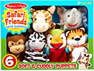 Melissa & Doug Safari Buddies Hand Puppets Puppet Set (6 Hand Puppets) Great Gift for Girls and Boys - Best for 2, 3, 4, 5 an
