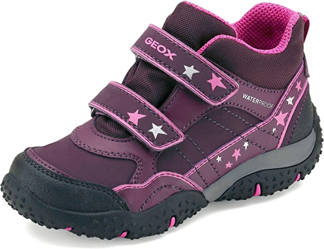 Aliado Pies suaves para mi  Geox J Baltic Girl B WPF Girls' Trainers Purple Size: 1 UK: Amazon.co.uk:  Shoes & Bags