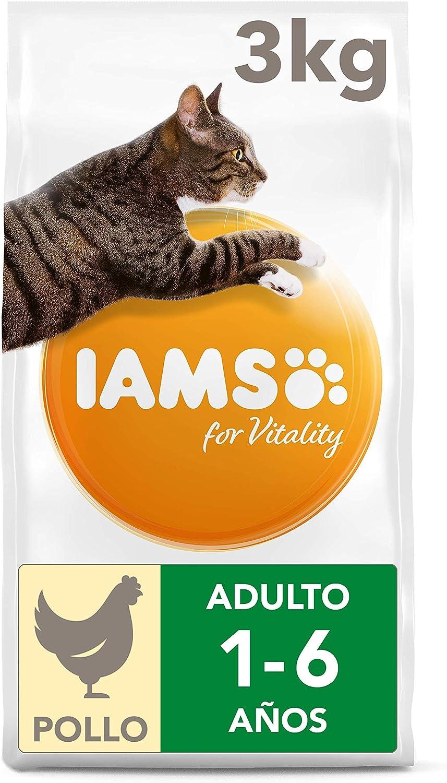 IAMS for Vitality Alimento para Gato Adulto con pollo fresco, 3 kg