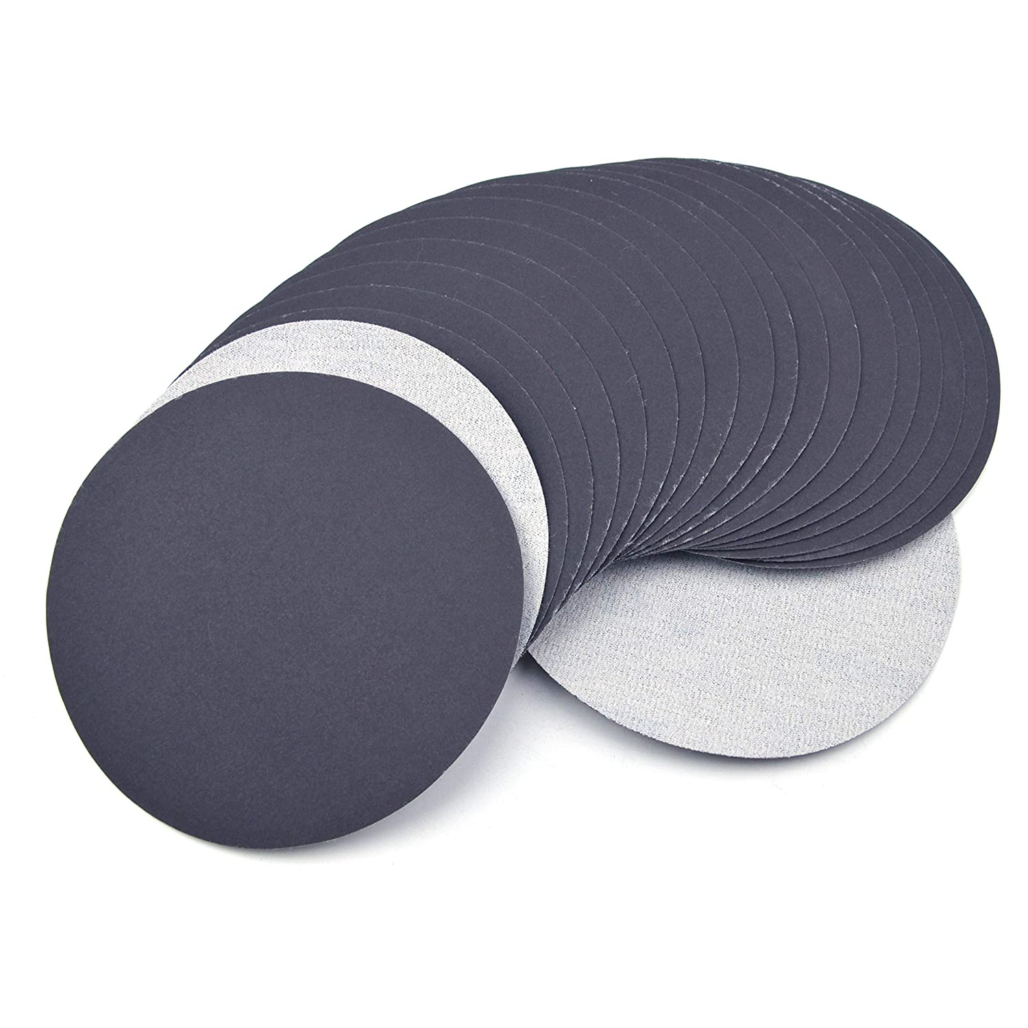 1500 Grit High Performance Waterproof Hook /& Loop Sanding Discs Heavy Duty Silicon Carbide Round Flocking Sandpaper for Wet//Dry Sanding Grinder Polishing Accessories 20-Pack 150mm 6 Inch