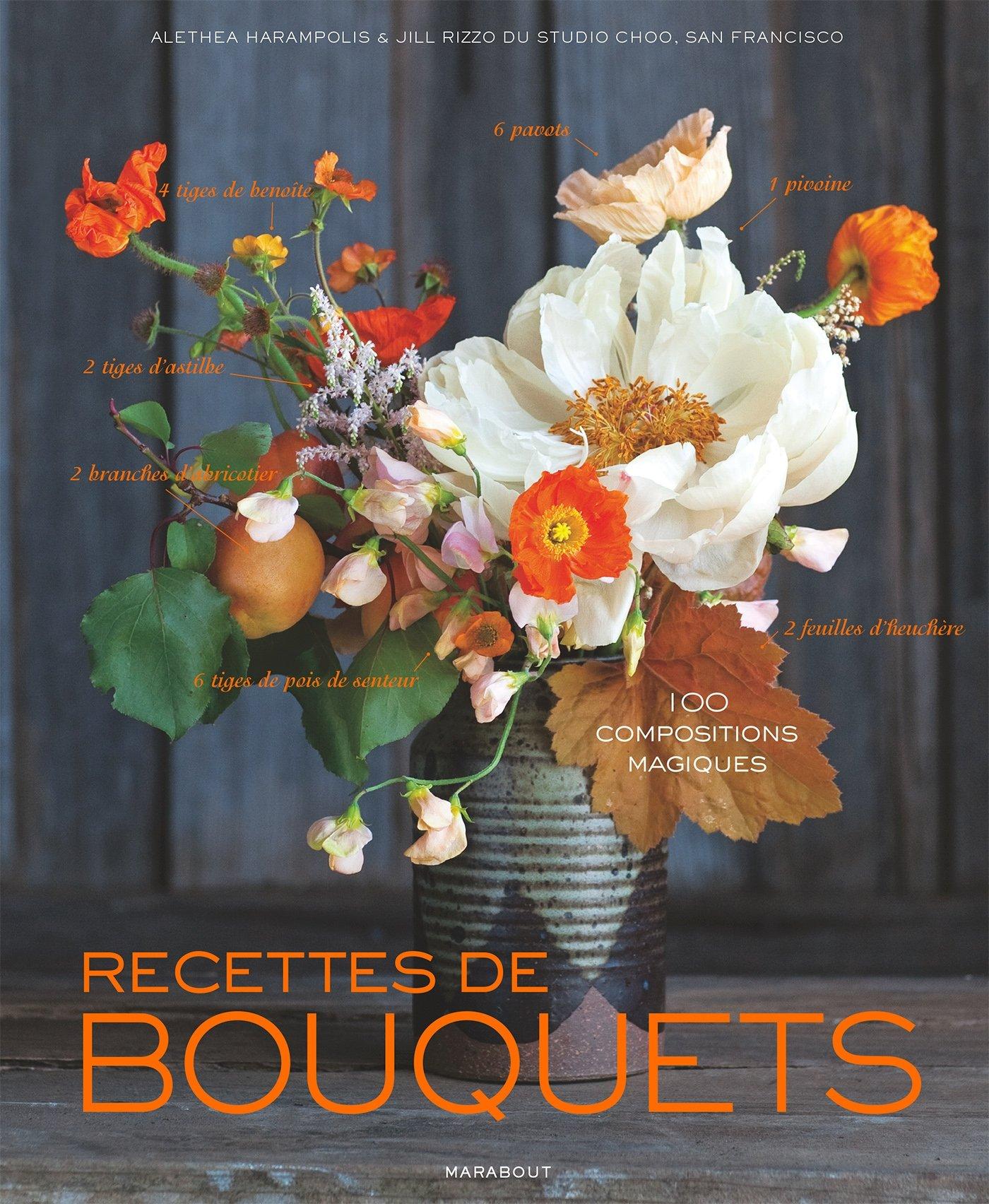 Recettes de bouquets: 100 compositions magiques Relié – 16 avril 2014 Alethea Harampolis Jill Rizzo Marabout 2501093690