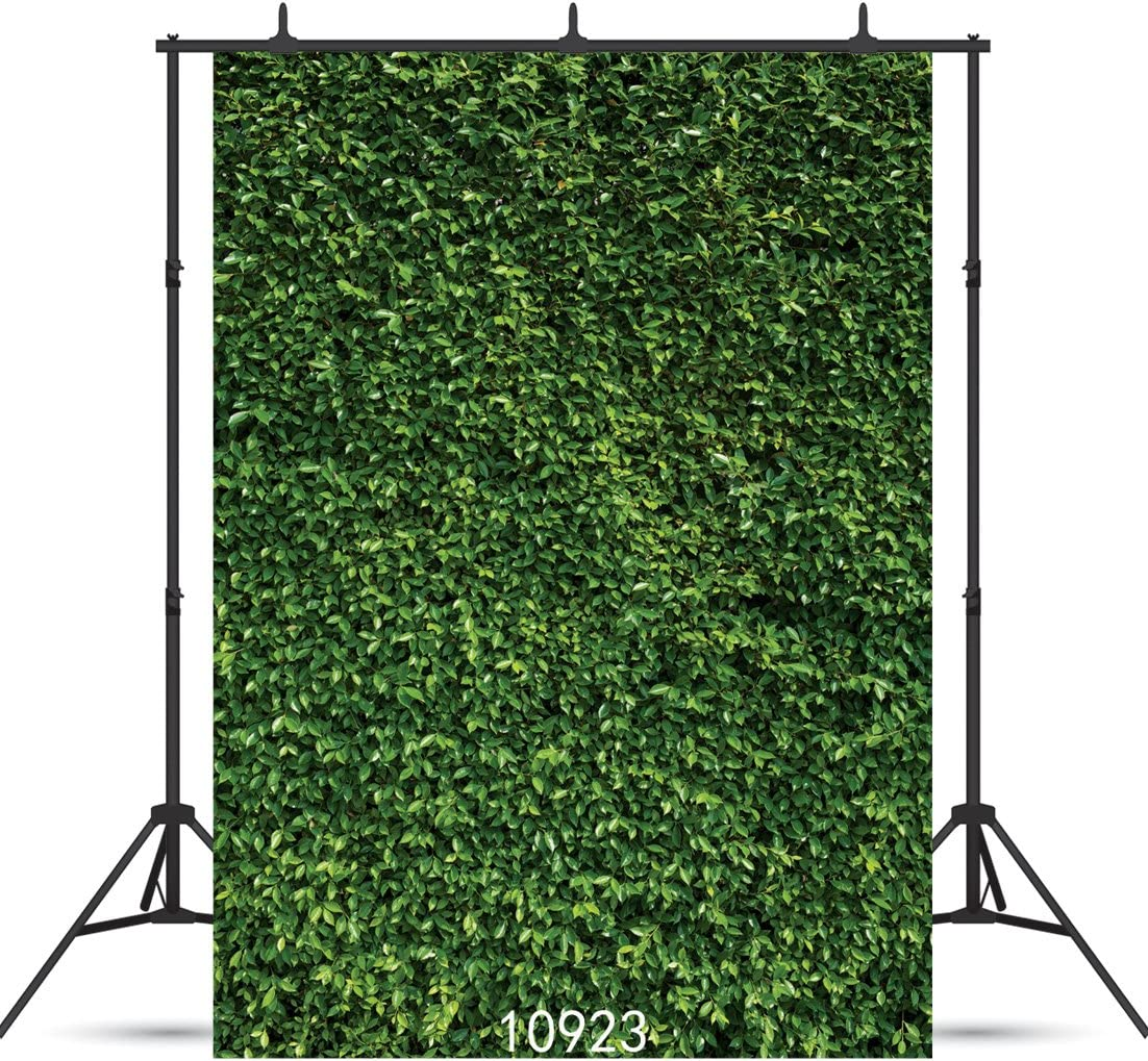 SJOLOON 5X7ft Green Leaves Backdrop Brunch Backdrop Natural Green Lawn Party Photography Backdrop Birthday Newborn Baby Lover Wedding Photo Studio Props 10923