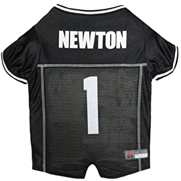 Amazon.com   NFLPA Dog Jersey - CAM Newton  1 Pet Jersey - NFL Carolina  Panthers Mesh Jersey 900b55d93