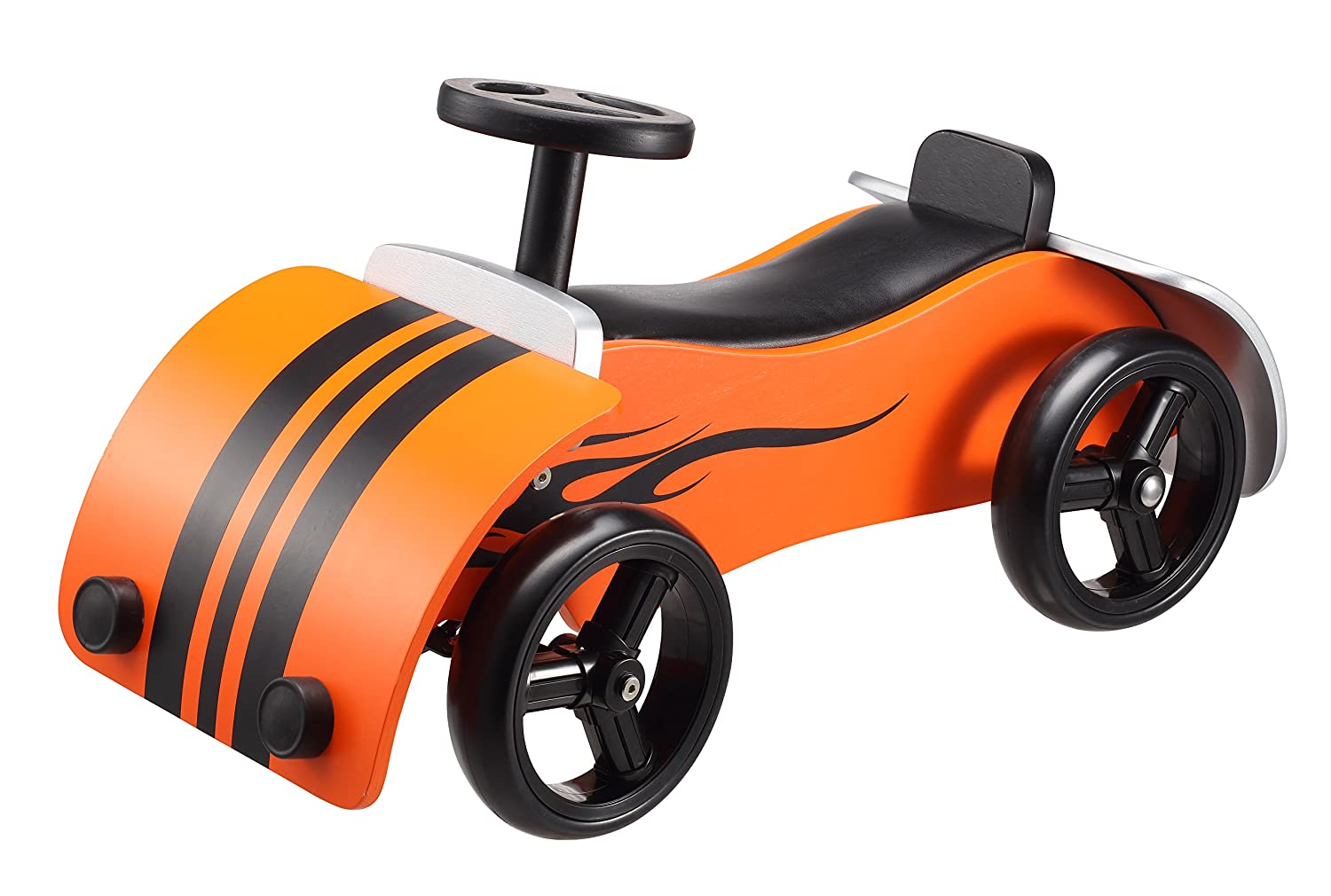 Rutschauto Holz - BIKESTAR Kinder Rutscher Orange