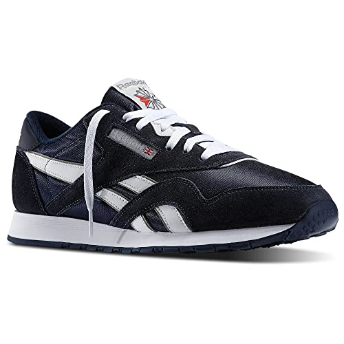dcff6d8f56d Image Unavailable. Image not available for. Color  Reebok Men Classic Nylon  Navy Team Navy Platinum ...