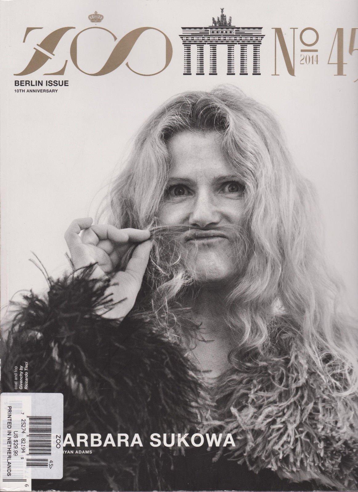 ZOO MAGAZINE #45 2014, BERLIN ISSUE 10th ANNIVERSARY, BARBARA SUKOWA, FASHION.