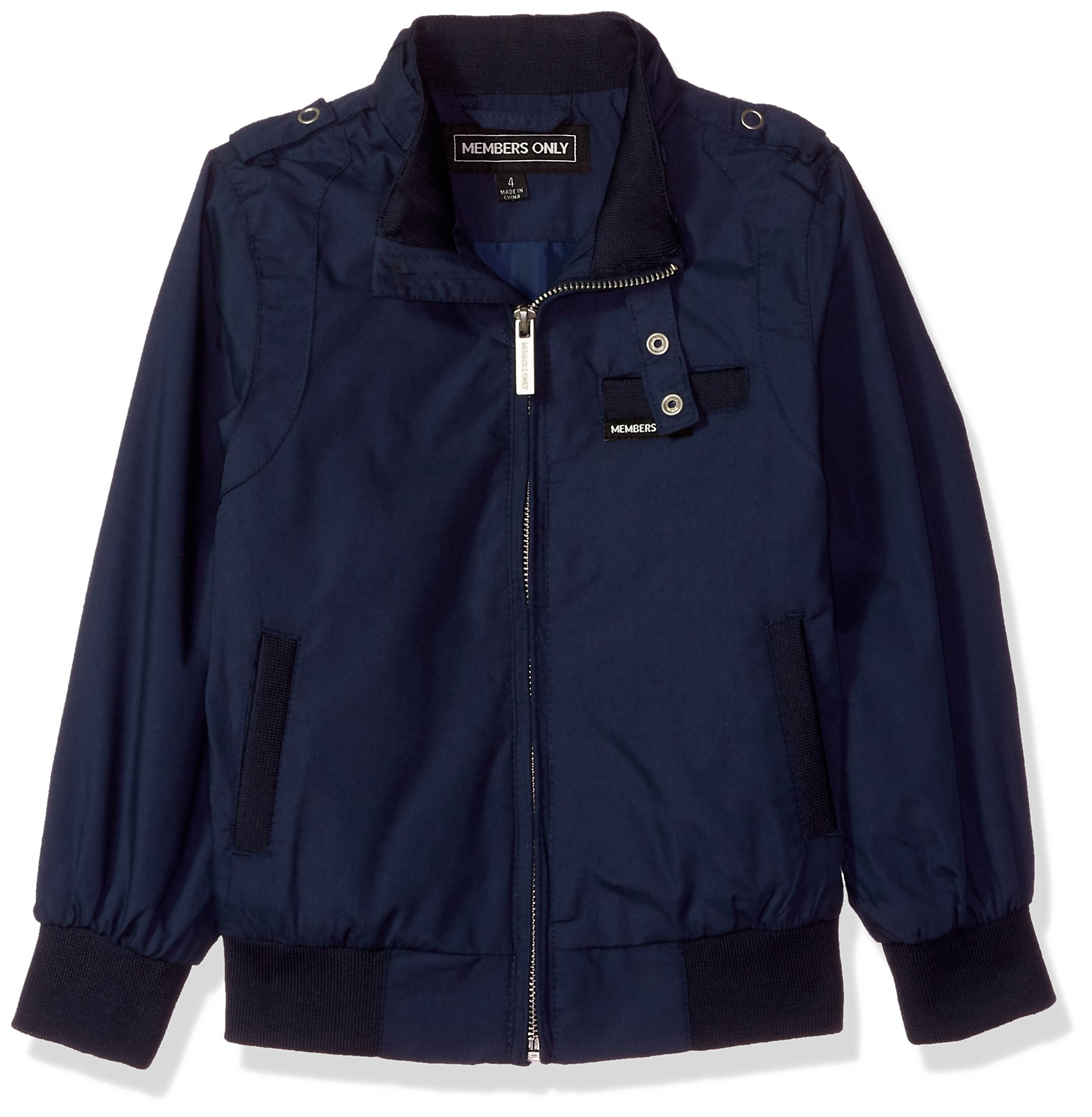 Members Only Little Boy's Iconic Racer Jacket Outerwear, Navy, 6