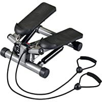 Body Sculpture BS1320 Twist Stepper with Resistance Cords - Silver/Black