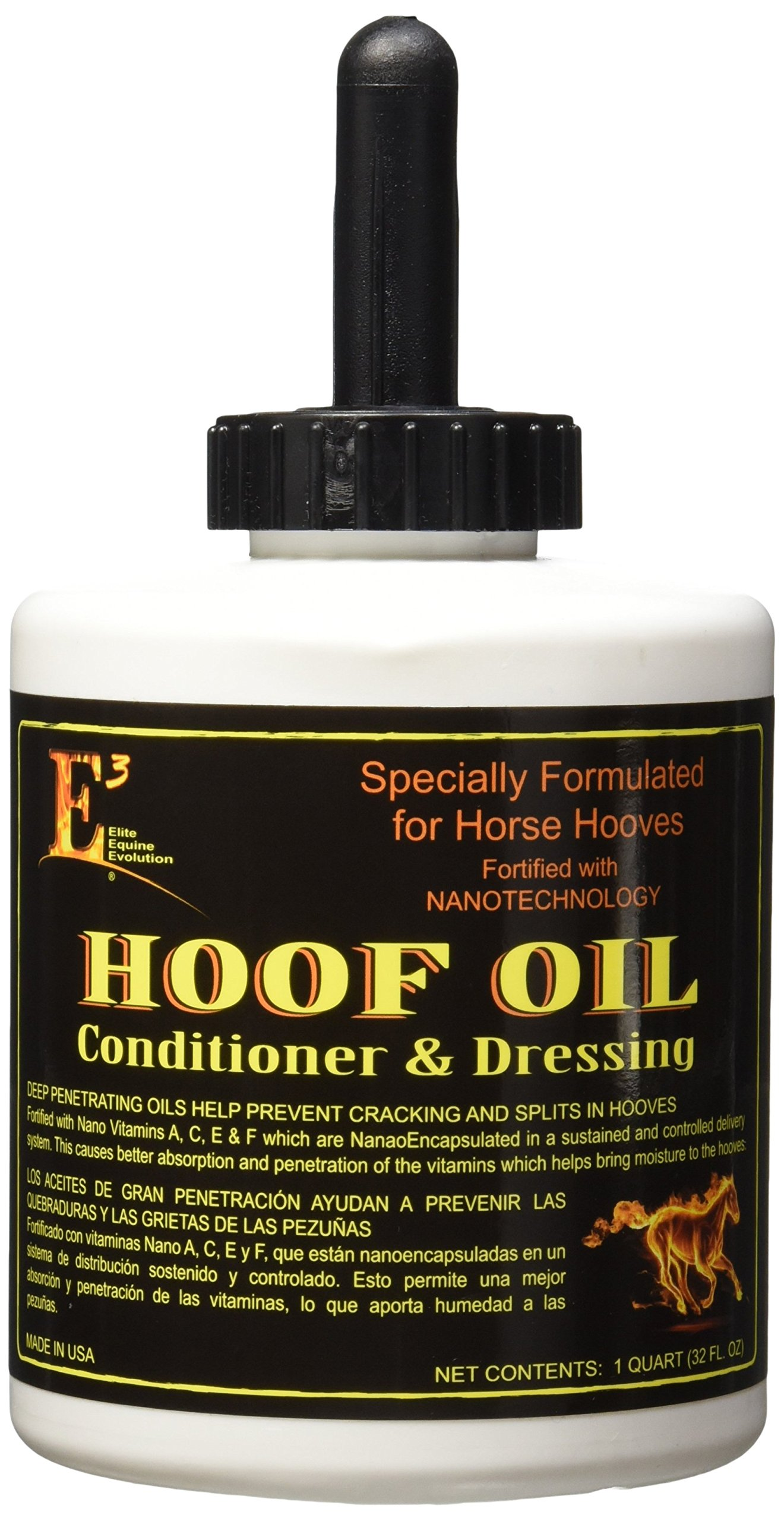 E3 Elite Grooming Products Equine Evolution Hoof Oil for Pets by E3 Elite Grooming Products