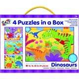 Galt Toys Dinosaurs 4 Puzzles in a Box (Multi-Colour)