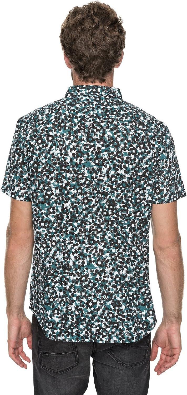 Quiksilver Mens Short Sleeve Linen Print Shirt