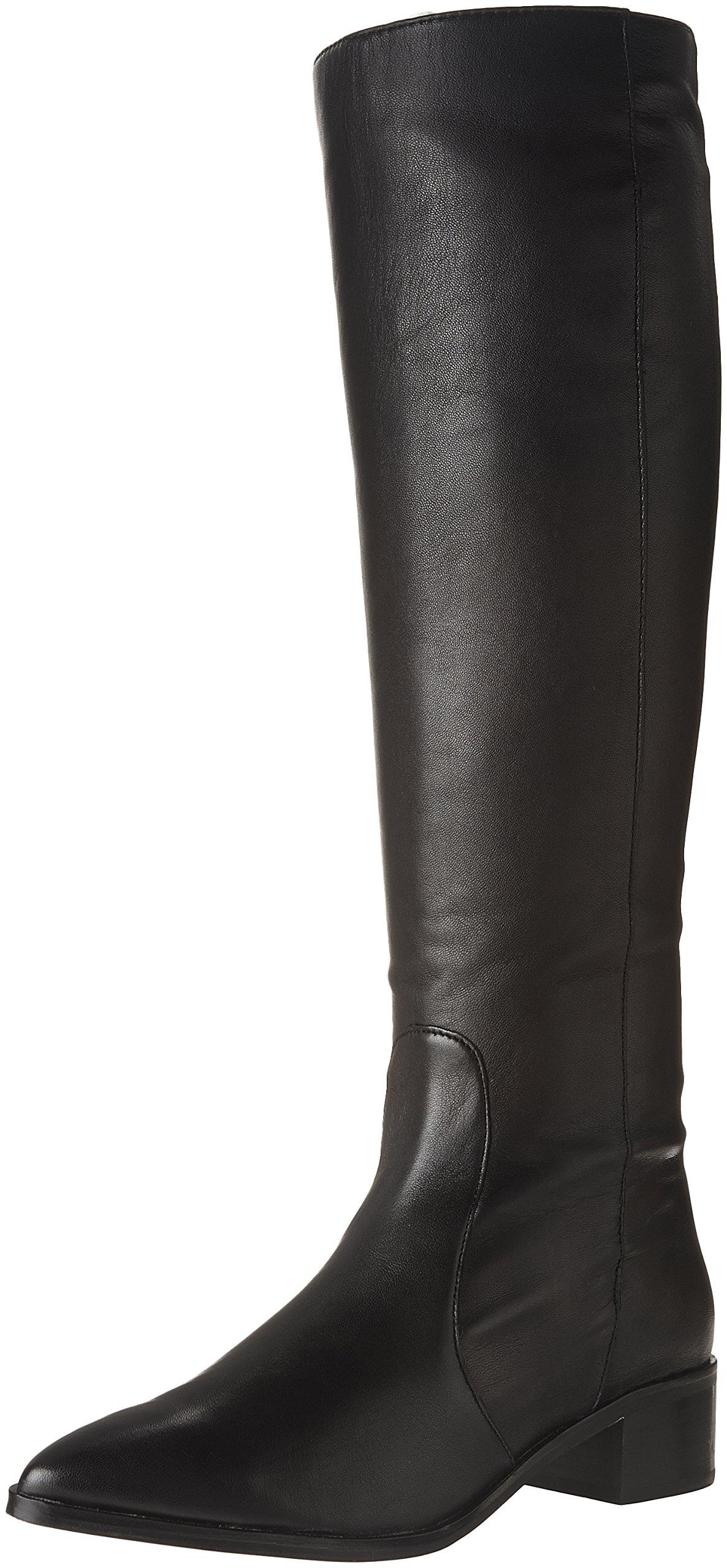 Dolce Vita Women's Morey Fashion Boot, Black Leather, 10 Medium US