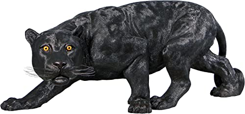 Design Toscano Shadowed Predator Black Panther Statue: Grande
