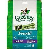 Greenies Freshmint Dental Treat for Large Dog, Adult, 340g, 8 treats