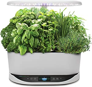 AeroGarden Bounty Indoor Hydroponic Herb Garden, White