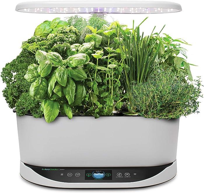 AeroGarden Bounty Indoor Hydroponic Herb Garden, White