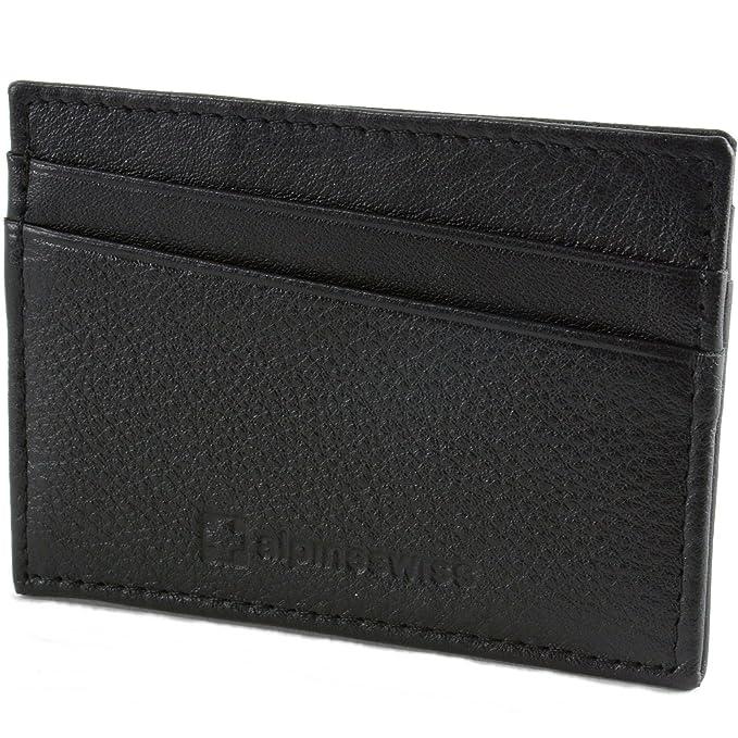 c0eba49615f alpine swiss Men s RFID Blocking Minimalist Wallet Flat Card Case ...
