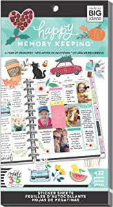 me & my BIG ideas Sticker Value Pack - The Happy Planner Scrapbooking Supplies - Memory Keeping Theme - Multi-Color - Great for Projects, Scrapbooks & Albums - 30 Sheets, 432 Stickers Total