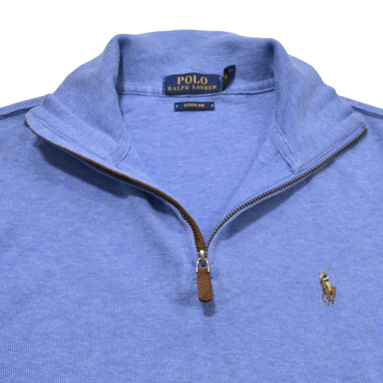 Polo Ralph Lauren Men's Estate Rib Half Zip Sweater, XL, Welsh Blue by Polo Ralph Lauren (Image #2)