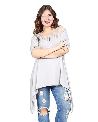 Damen stylische Tunika Bluse auch Große Größen, Oberteil Tunic ...