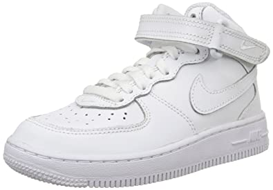 fab5dd30651 Nike Force 1 MID (PS) Boys Basketball-Shoes 314196-113 1Y - White