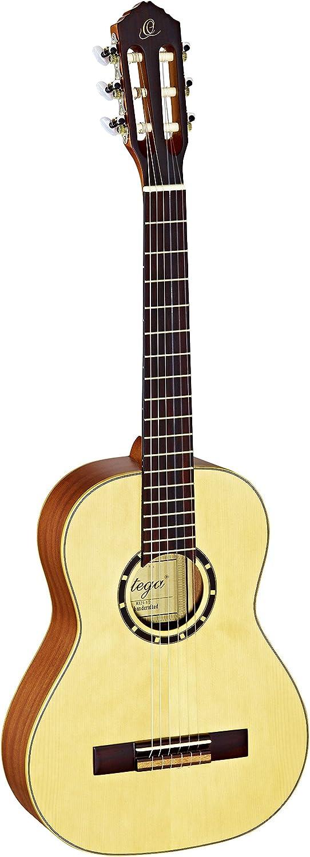 Ortega R121-1/2 - Guitarra clásica, abeto y caoba, tamaño 1/2, color beige