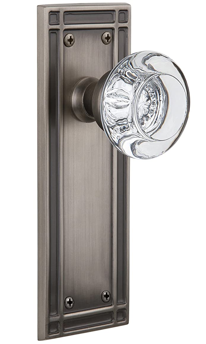nostalgic warehouse misrcc_sd_nk round clear crystal solid brass single dummy knob with mission rose