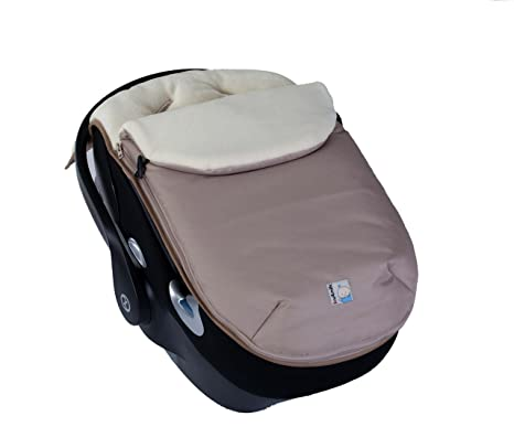 Kutnik Saco de abrigo universal polar para silla de coche - Beige desierto y crema