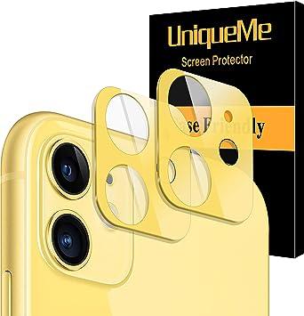 Kameraschutz iPhone 11 Kamera Panzerglas ,Kamera Linsen Glas mit Diamant Rand ,Einzeln Linsenabdeckung Hinten Kamera Objektivschutz Dekorationen Aufkleber Linse Protector Cover f/ür iPhone 11