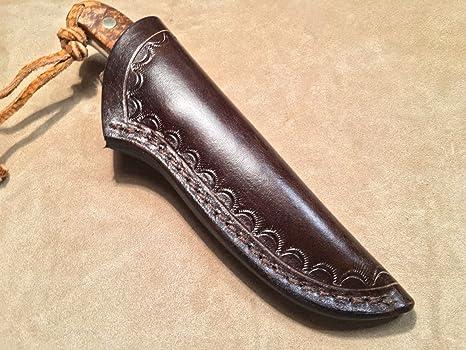 Custom Leather Sheath for Buck 113, Schrade PH2 Knife, Size 6