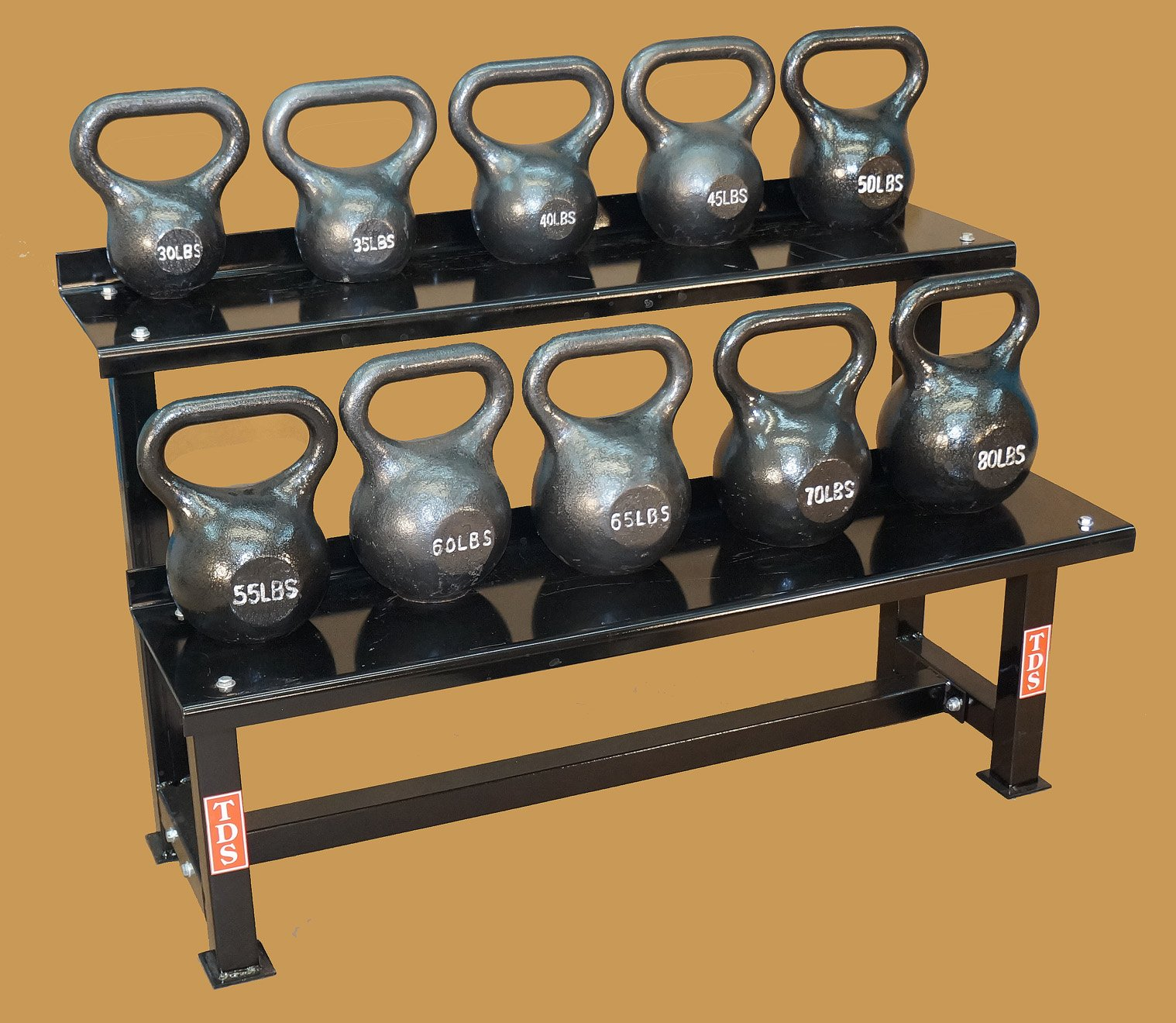 TDS Fitness 48'' Rack with 30-80 lb Kettlebell Pkg by New York Barbells by TDS (Image #3)