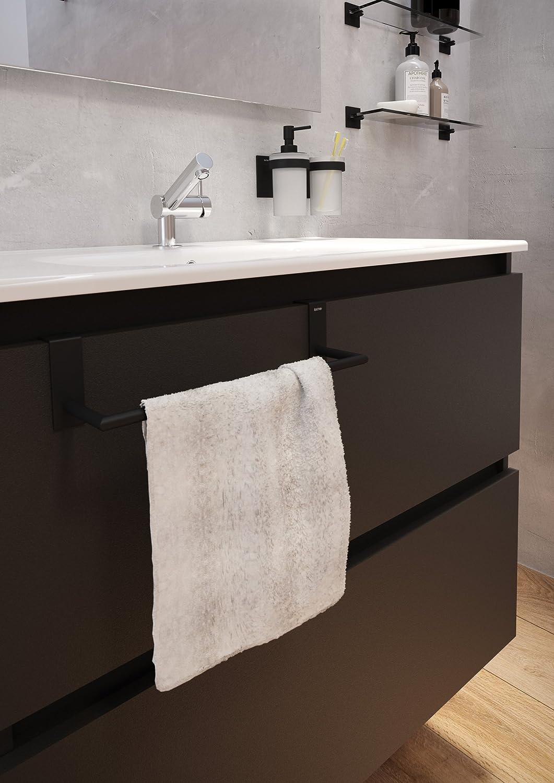 Handtuchhalter matt 28 cm Schwarz Amazon Baumarkt