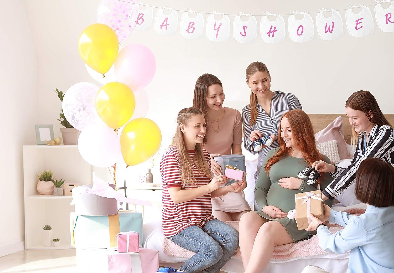 Perfekt f/ür Babypartys oder Geburt Geschenk Mit 12 farbigen Textilstiften und Babystrampler in wei/ß Personalisierte Babylatz aus Baumwolle Latzelite hochwertiges L/ätzchen 10er Set zum Bemalen