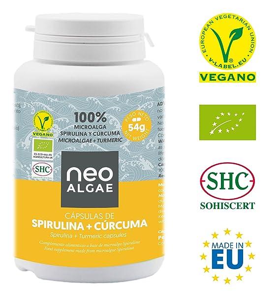Suplemento de Cúrcuma y Spirulina | Antiinflamatorio Natural | Producción 100% Orgánica y Natural |