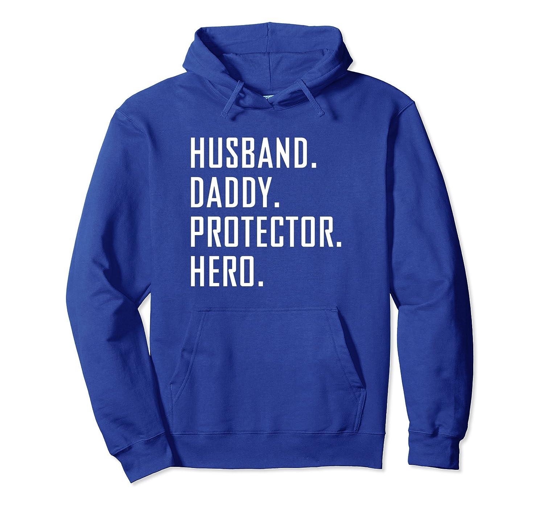 Husband Daddy Protector Hero Hoodie Sweatshirt-Veotee