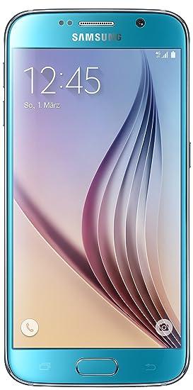 Samsung Galaxy S6 Smartphone (12,9 cm (5,1 Zoll) Touch-Display, 32 GB Speicher, Android 5.0) blau (Nur für Europäische SIM-Ka