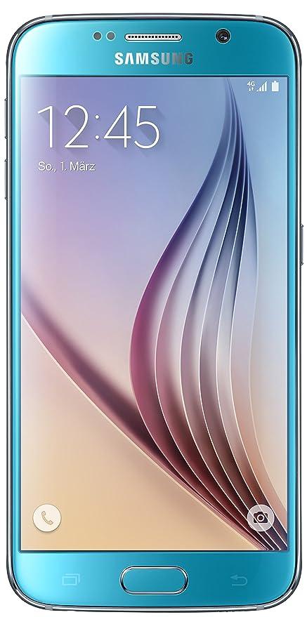Samsung Galaxy S6 Edge Sim Karte Einlegen.Samsung Galaxy S6 Smartphone 12 9 Cm 5 1 Zoll Touch Display 32 Gb Speicher Android 5 0 Blau Nur Fur Europaische Sim Karte