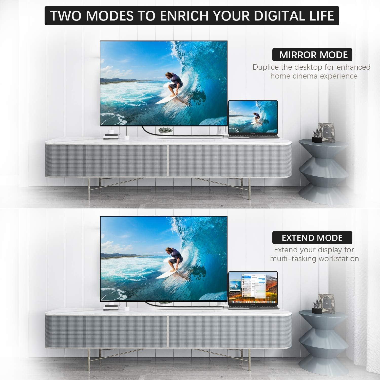 MIFIRE Cable de TV a HDMI Cable de TV para Proyector de TV, Adaptador AV AV Digital HDMI 1080P Conector HDTV Compatible con Phone XS/XS MAX/XR/X / 8/7/6 Plus / 5, Pad