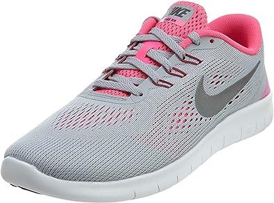 Nike Free RN (GS), Zapatillas de Running para Niñas, Gris (Wolf Grey/Metallic Silver-White-Black), 36 EU: Amazon.es: Zapatos y complementos