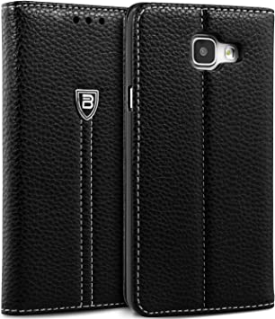 Coque Samsung A3 2016, BEZ® Etui Samsung Galaxy A3 2016 avec Porte-Cartes de Crédit, Housse à Rabat en Cuir Premium Flip Case Portefeuille, Fermeture ...