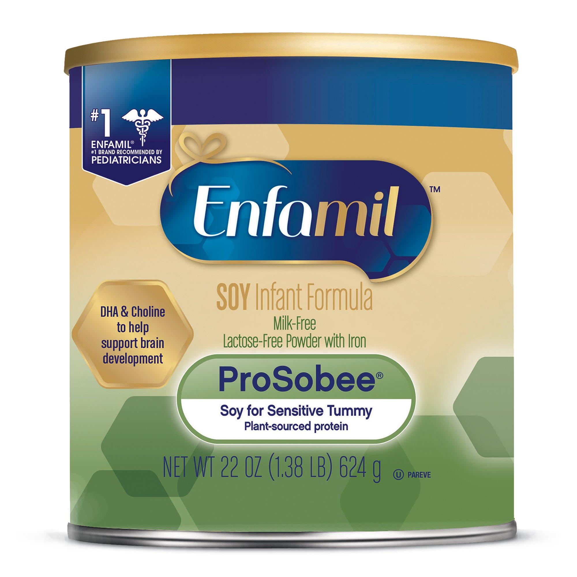 Enfamil ProSobee Soy-Based Infant Formula - Lactose Free for Sensitive Tummies - Powder Can, 22 oz