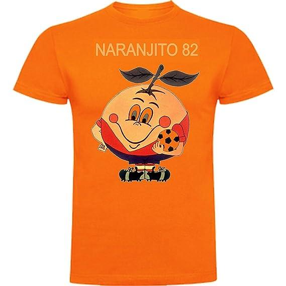 The Fan Tee Camiseta de Mujer Divertidas Naranjito 82 Mundial ESPAÑA Futbol Deporte Retro: Amazon.es: Ropa y accesorios