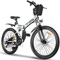 ANCHEER Bicicleta Electrica Plegable, Bicicletas Plegables Adulto 26 Pulgadas, E-Bike de Montaña, Motor de 350 W, Batería de 36V…
