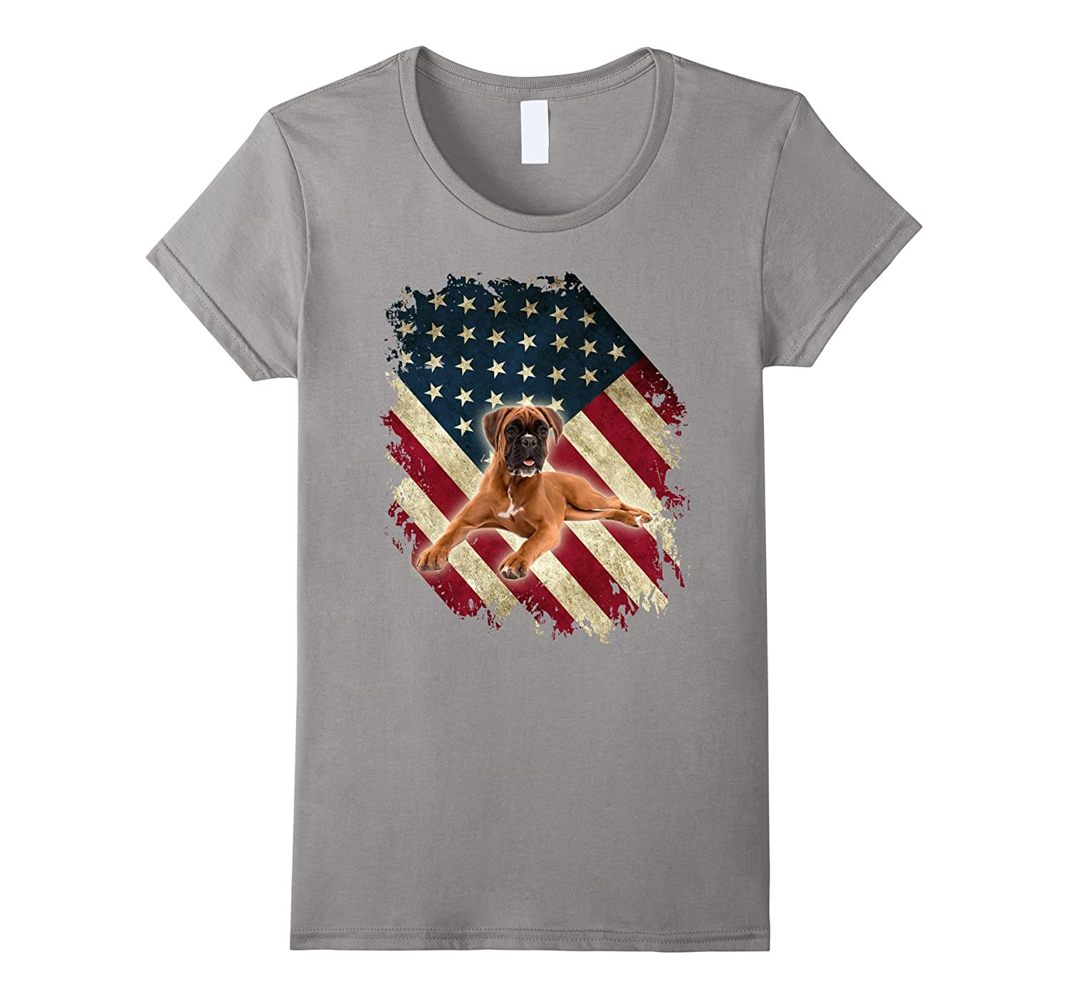 The 4th July Patriotic T-Shirt Boxer Dog Lover