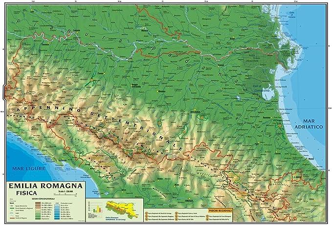 Cartina Politica Dellemilia Romagna.Carta Geografica Murale Regionale Emilia Romagna 100x140 Bifacciale Fisica E Politica Amazon It Cancelleria E Prodotti Per Ufficio