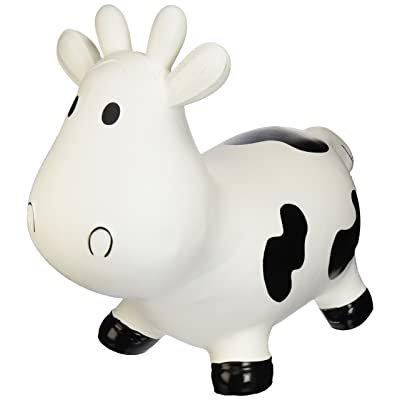 Trumpette Howdy Cow Kids Inflatable Bouncy Rubber Hopper Ride-On Toy White : Bathtub Toys : Baby