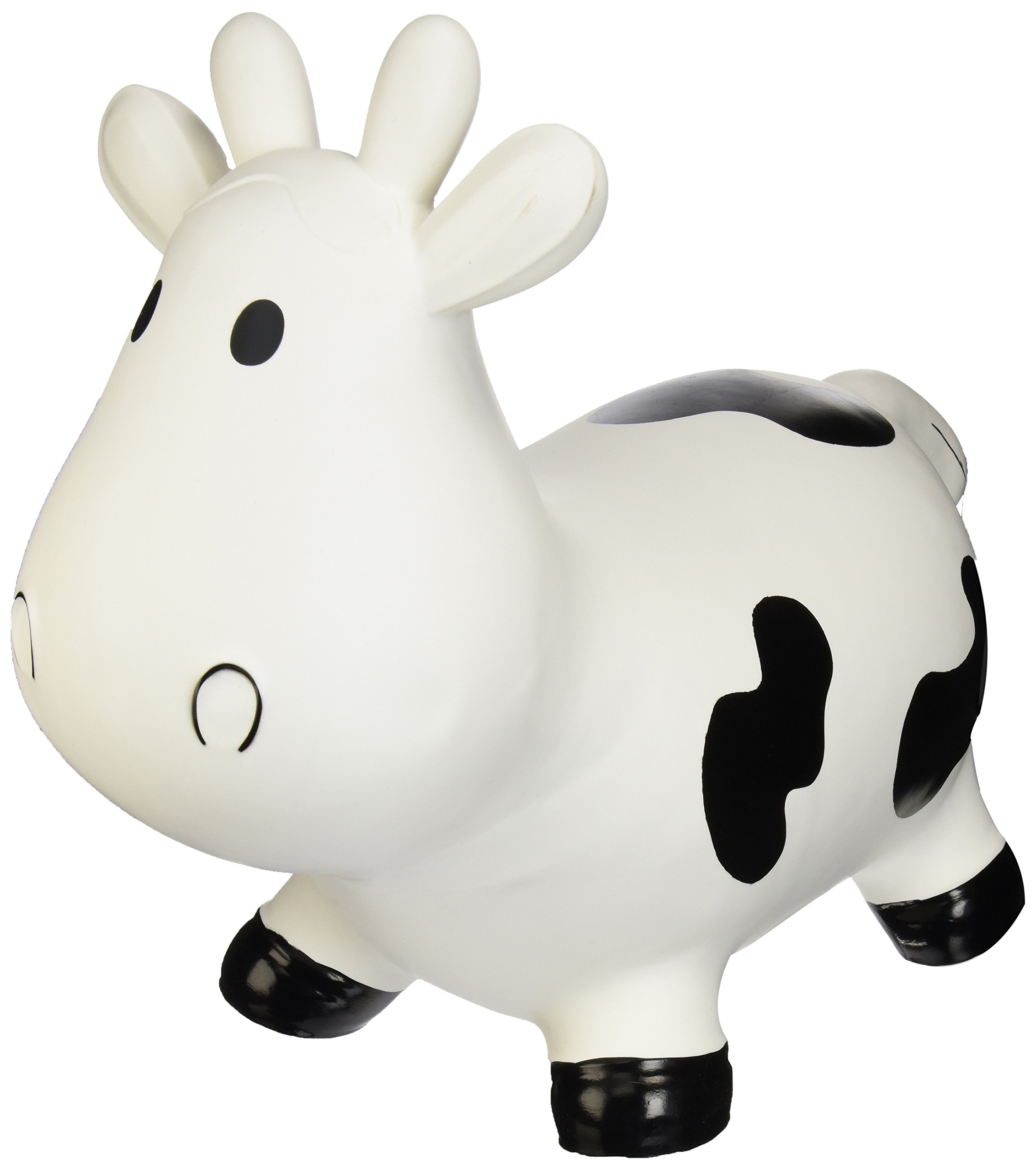 Trumpette Howdy Cow Kids Inflatable Bouncy Rubber Hopper Ride-On Toy White by Trumpette